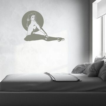 Style and Apply Pinup Girl Ballerina Vinyl Wall Decal