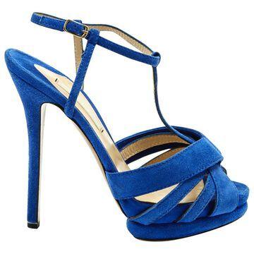 Nicholas Kirkwood Blue Suede Sandals