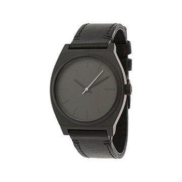 Nixon Men's Time Teller A0452738 Black Leather Japanese Quartz Fashion Watch