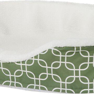 MidWest QuietTime Defender Teflon Geometric Orthopedic Nesting Pet Bed, Green
