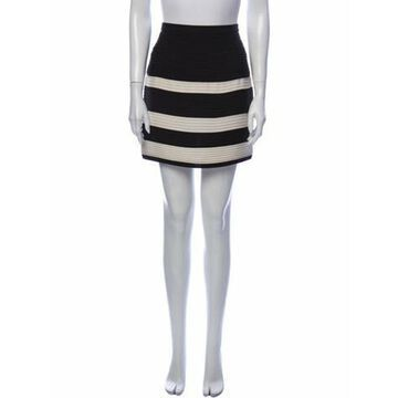 Striped Mini Skirt Black