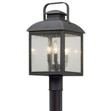 Troy Lighting Chamberlain 60-Watt 20-in Vintage Bronze Transitional Post Light | P5085