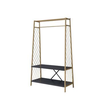 ACME FURNITURE Pahor Hall Tree in Gold and Black Finish   97850
