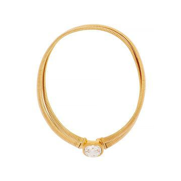 Crystal-embellished gold-tone necklace