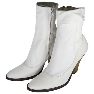 A.f.vandevorst White Leather Ankle boots