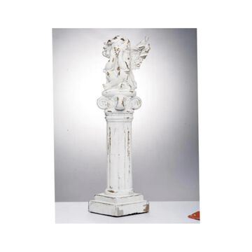 A&B Home Meriwether 24.4-in H x 7.1-in W Off-White Garden Statue | D43554-DS
