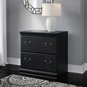 Bush Furniture Birmingham Lateral File Cabinet in Antique Black