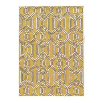 Linon Trio Art Deco Rug, Beig/Green, 8X10