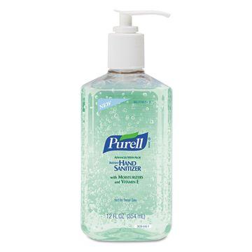 PURELL Advanced Instant Hand Sanitizer w/Aloe 12oz Pump Bottle 12/Carton