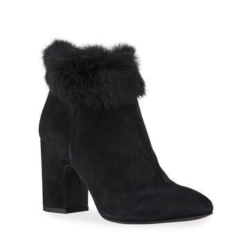 Tobie Suede & Rabbit Fur Booties