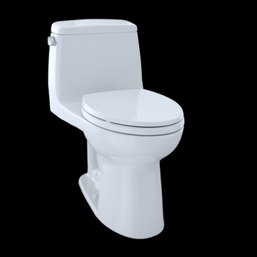 TOTO Eco UltraMax One-Piece Elongated 1.28 GPF Toilet, Cotton White - MS854114E#01