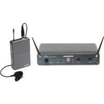 Samson Concert 88 Lavalier UHF Wireless Microphone Presentation System, Includes UHF Receiver, Bodypack Transmitter, LM5 Mic, D: 542-562MHz