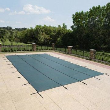 Blue Wave 18-Year Mesh In-Ground Pool Safety Cover - Green