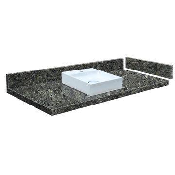 Transolid 40-in Tempest Quartz Single Sink Bathroom Vanity Top in Gray | VT40X22-1SV-4K-1