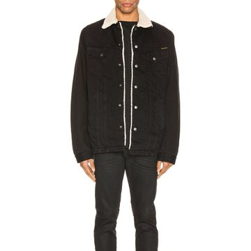 Nudie Jeans Lenny Jacket in Black Worn | FWRD
