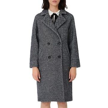 Maje Gabyne Double Breasted Long Twill Coat