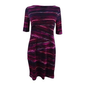 Connected Women's Printed Tiered Sheath Dress