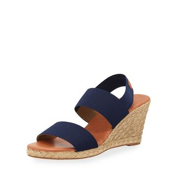 Allison Stretch-Strap Wedge Espadrilles