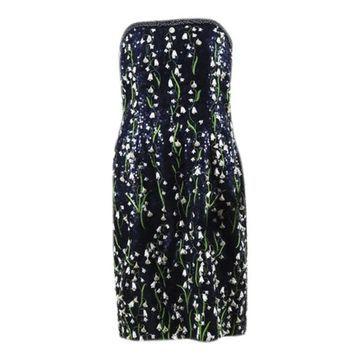 Carolina Herrera Blue Silk Dresses