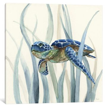 iCanvas ''Turtle in Seagrass II'' by Nan