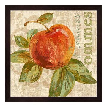 "Metaverse Art Rustic Fruit I Framed Wall Art, Brown, 12""X12"""