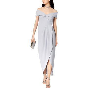 Xscape Womens Formal Split Hem Evening Dress