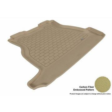 3D MAXpider 2005-2009 Buick LaCrosse All Weather Cargo Liner in Tan with Carbon Fiber Look