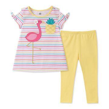 Toddler Girls 2-Pc. Flamingo Tunic & Leggings Set