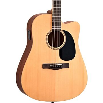 Element Series ME1CE Dreadnought Cutaway Acoustic-Electric Guitar Natural Striped Sapele, Solid Spruce Top
