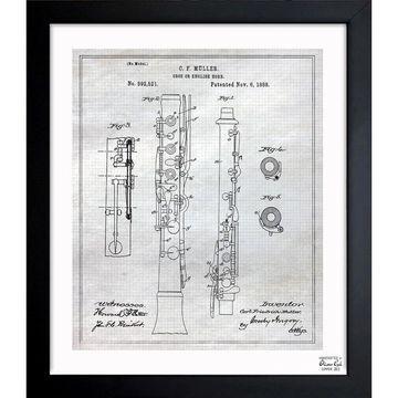 Oliver Gal 'Oboe 1888' Framed Blueprint Art