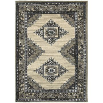 Style Haven Global Influence Beige/Grey Persian Area Rug (9'10 x 12'10) - 9'10