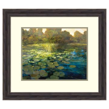Amanti Art Waterlilies Framed Wall Art