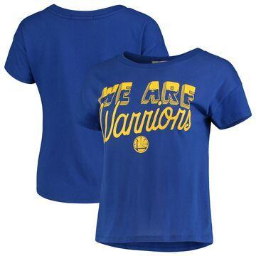 Golden State Warriors Junk Food Women's Boyfriend Crop T-Shirt - Royal