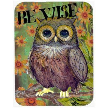 Caroline's Treasures Be Wise Owl Glass Cutting Board Large