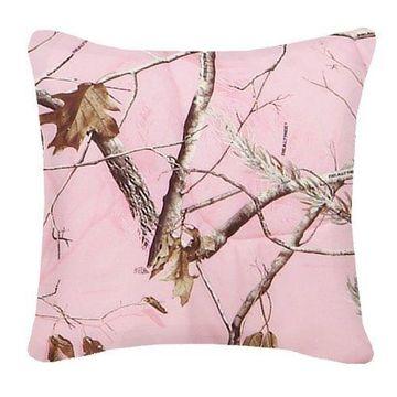Realtree AP Pink Square Pillow