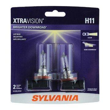 Sylvania H11 XtraVision Halogen Headlight Bulb, Pack of 2.