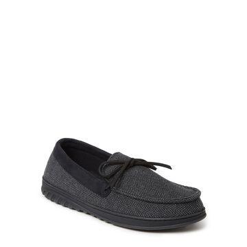 Dearfoams Cozy Comfort Herringbone Moccasin Slipper (Mens)