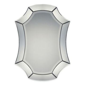 Quoizel 24-Inch x 33-Inch Oval Grace Mirror in Black