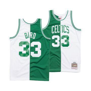 Men's Larry Bird Boston Celtics Split Swingman Jersey