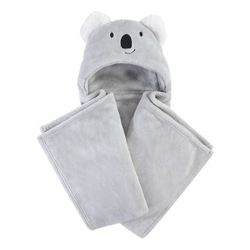Hudson Baby Lovey Blankets Koala - Gray Koala Plush Blanket with Hood