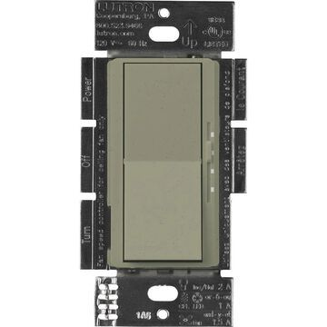 Lutron Diva 3-Speed 1.5-Amp Wired Greenbriar Rocker Fan Control | DVSCFSQ-LF-GB