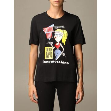 Love Moschino T-shirt Love Moschino T-shirt In Cotton With Gym Print