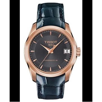 Tissot T-Trend Couturier Anthracite Dial Leather Strap Women's Watch T035.207.36.061.00 T035.207.36.061.00