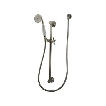 Kingston Brass Made to Match 4 Piece Shower Combo, Brushed Nickel