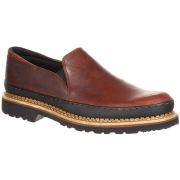 Georgia Giant: Men's Twin Gore Brown Leather Slip-on Shoe