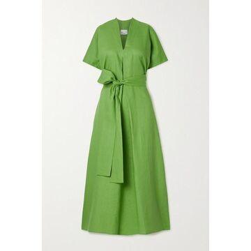 Lisa Marie Fernandez - Rosetta Belted Linen Maxi Dress - Green