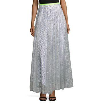 Manoush Womens Jupe Glitter Lace Skirt