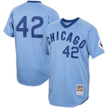 Men's Mitchell & Ness Bruce Sutter Light Blue Chicago Cubs Road 1976 Cooperstown Collection Authentic Jersey