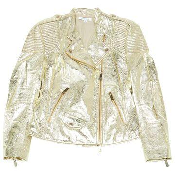 Faith Connexion Gold Leather Jackets