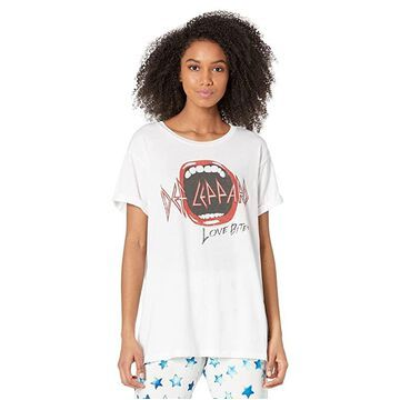 Chaser Def Leopard - Love Bites Recycled Vintage Jersey Rolled Short Sleeve Tee